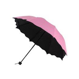 venda por atacado Guarda-chuvas de dobramento reverso à prova de vento Guarda-chuva de florescência Dual-propósito sol vinil sol-guarda-sóis em dias ensolarados e chuvosos