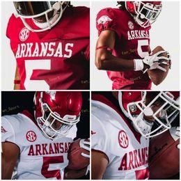 NCAA College Jerseys Arkansas Sec 5 Rakeem Boyd 13 Feleipe Franks 16 Treylon Burks 33 Treylon Burks Custom Football Steins en venta