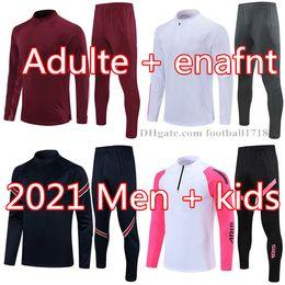 21 22 Homens Futebol Tracksuit Real Madrid Futebol Formação Terno 2021 2022 Mens Kids Mbappe Survace Maillots De Foot Chandal tuta jogging em Promoção