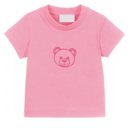 Summer Kids T-shirts Letter Bear Tees Cute casual Boy Baby Clothes Comfortable Breathable Tshirt Girl Multicolor Tops Children 2021 on Sale