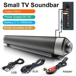 Wholesale Bluetooth 4.1 Soundbar USB AUX Stereo Loudspeaker Wireless Speaker Bleutooth Sound bar Home Theater Sound System PC Speaker TV