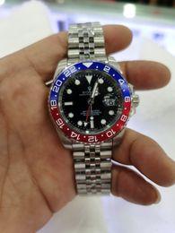 With original box Men's Jubilee Bracelet Watches Mens Asia Automatic Date Watch Men 126710 Batman Gmt II Sapphire Perpetual Master Pepsi Crown Wristwatches 8666