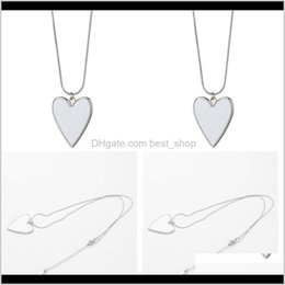 Discount pendant blank heart Sublimation Blanks Stainless Steel Chains Love Heart Pendants Charm Women Female Necklaces Valentines Romantic Gifts 5 5Mo N2 Vdglh Xlfdw