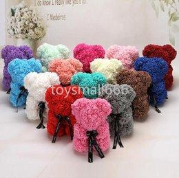 venda por atacado 25 cm 38cm Rose Teddy Bear Artificial Flor LED Strings Decoração Rose Urso Casamento Dia dos Namorados Day Presentes para Mulheres Decoração Home Ca21