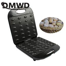 DMWD elettrico walnut torta maker automatico mini dado waffle pane macchina da forno bakeware sandwich ferro tostapane colazione colazione pan forno in Offerta