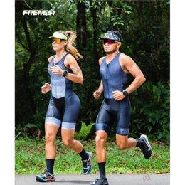 Wholesale Frenesi Couple Triathlon Short Sleeve Riding Cyclism Hombre Skinsuit Speedsuit Bodysuit Jumpsuit Racing Sets