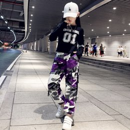 pantalons de danse hip hop filles achat en gros de-news_sitemap_homeEnfants Girls Boys Hip Hop Dance Vêtements Joggers Pantalons Pantalons pour Enfants Coton Loose Camouflage Sports Harem Pants Neuf V2