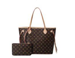 4 Renkler Kafes 2 adet Set Omuz Çantaları Tote Yüksek Kalite Kadın Çanta Luxurys Tasarımcılar Bayanlar Çanta Bayan Debriyaj Çanta Retro Sırt Çantası Stil Çanta # 858