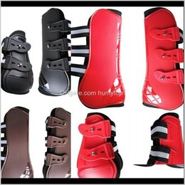 Tack Equipment For Care Products 4 Pcs Adjustable Horse Boots Equine Front Hind Leg Guard Equestrian 251 X2 Hjqxc Bqzc6 on Sale