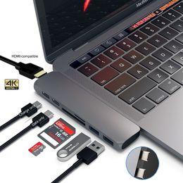 Mosibel USB C Hub Thunderbolt 3 Dock med HDMI-kompatibel RJ45 1000M Adapter TF SD Reader PD 3.0 för MacBook Pro / Air M1 Type-C