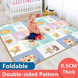 baby boy play clothes UK - Xpe Environmentally friendly Fat Baby Crawling Toy Clothing Folding Mat Tape Play Mat For Children Safety Mat Kids Back Playmat A0508