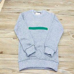 Vente en gros Sweatshirts Enfants Garçons Filles Fashion Sweats à capuche Lettre imprimé Pull à manches longues Tops Children Casual Sweat-shirt pour enfants
