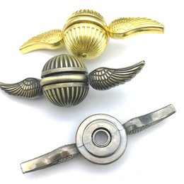 Spinning top Golden Snitch Fidget Fingertip Gyro Magic Toys with Wings Relief Stress Metal Cupid Hand Spinners Rainbow Harry Potter