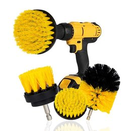 3Pcs Set Electric Scrubber Drill Brush Kit Plastic Round Cleaning Brushes For Carpet Glass Car Tires Nylon Washing Tool 2 3.5 4'' on Sale
