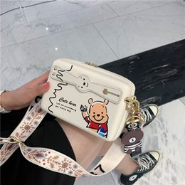 Discount designer camera bags Mini fresh sweet small Single Shoulder Messenger fairy Boston bear Pu pendant camera Bag
