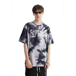 hip hop t shirt gold Canada - T Shirt Street Wear Men's Custom Fashion Hip Hop Tie Dye Men