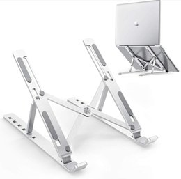 Laptop Mounts for 10-15.6 inches tablets,Aluminum alloy Stand 6-position adjustable height Portable Holder Desk cooler on Sale