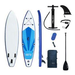 2021 más reciente 320 * 78 * 15 cm Tabla de surf inflable Carry Sling Stand Up Paddleboard Sup Paddle Board Kit Surf Fins Wakeboard Surfing Kayak Water Ski en venta
