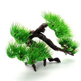 Discount pine tree bonsai Green Artificial Plants Bonsai Plastic Grass Ball Pine Tree Potted Year Party Decorations Xmas Ornaments Kids Gift Decorative Flowers & Wrea