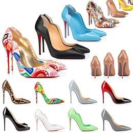 2021 Red Bottom Heels Buty Moda Kobiety Prawdziwej Skóry Sukienka Poszeczki Sandały High Heel Platform Projektant Spiczasty Palec Pompy Mokasyny Guma 35-42