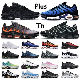 Wholesale Plus tn Mens Sneakers Outdoor shoes Triple White volt Red black gradient Oreo Hyper Blue hex Lava Sports Women Trainers Size 36-46