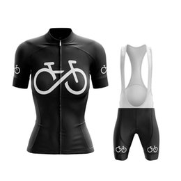 Wholesale Racing Sets Maillot Cyclisme Femme Summer Bicycle Team Cycling Jersey Women Short Sleeve Cycle Wear Set Black Bike Outfit MTB Riding Clothes