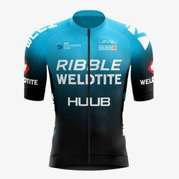 Гоночные наборы 2021 Huub Велоспорт Джерси Майлот Мужчин Велосипед Костюм Rible Weldtite Bike Рубашки нагрудника Шорты МТБ Команда Одежда Команда ROPA Ciclismo Custom на Распродаже