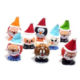 Wholesale Electronic Pets Wind-up and winding walking Santa Claus Elk Penguin Snowman Clockwork Toy Christmas Child Gift Toys