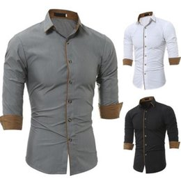 Wholesale causual shirts for sale - Group buy Design Plus Size s Business Causual Linen Long Sleeves Shirts for Men