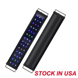 Fresh Water LED Light Aquarium Lights, Dimmable Fish Tank Lighting with Retractable Bracket, External Controller, Aluminum Alloy Shell on Sale