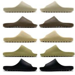 Wholesale 2021 Slides Graffiti Bone Resin Desert Sand Rubber Slippers Summer Brown Flat Men Women Beach Foam Runner size 36-45