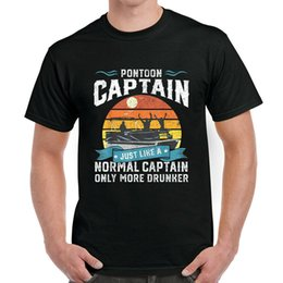 captain t shirt NZ - Funny Pontoon Captain Boat Lake Boating Beer Cotton T-shirt