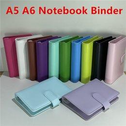 A5 A6 Cornier Notebook Notebook Libre Notebooks Rechargeable 6 Bague pour le couvercle de liant de papier de remplissage A6 avec boucle magnétique Stock de fermeture en Solde