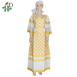 long african traditional dresses UK - H&D african clothes for women with lace south african traditional wear dashiki bazin dresses embroidery long dress women turban1