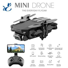 LSRC Adults 4K Drone, Kid Video Camera RC Aircraft, Birthday Gifts for Men& Girl, WIFI FPV Foldable Mini Beginer Quadcopter, Track Flight, Beauty Filter, Altitude Hold, 3-1