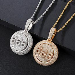 Personalized Custom Spinning Pendant Initial Letter Number Rotatable Necklace Iced Out Full Cubic Zirconia Hiphop Jewelry