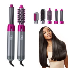 Wholesale 5 Heads Multi-function Hair Curler Dryer Automatic Curling Irons with Gift Box For Rough and Normal EU US UK AU Plug