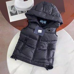 Donne Moda Gilet Down Parka Giacca Autunno Inverno Cappotti spessi caldi per Lady Skin Style Giacche con cappuccio senza maniche a vento senza maniche 3 opzioni Taglia S-L in Offerta