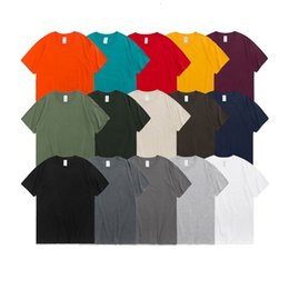 Wholesale mens organic cotton t shirts resale online - Mens T Shirtss High Quality Blank Shirt Organic Cotton Plain Shirt With Colors For You Selection
