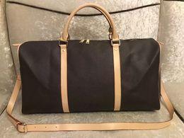 2020 Luksusowy Moda Męskie Kobiety Torba Podróżna Torba Duffle, Marka Projektant PU Leather Torebki Bagaż Duża Pojemność Torba sportowa 54cm