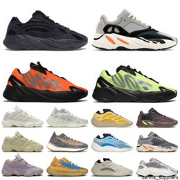 700 sneakers NZ - 2021 700 Vanta New Fashion Orange Phosphor Mens Trainers Womens Running Shoes v3 Azareth Blue Oat 380 sneakers