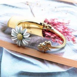 Luxury designer flower bracelet steel 18k gold chains men fashion bangle women wholesale