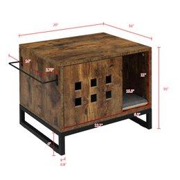Опт Waco Cat House Side Стол, тумбочка для домашних животных Корпус, Коробка для мусора Крытый, Квартирный стол, Квартирный Таблица Скрытая умывальник, деревенский коричневый