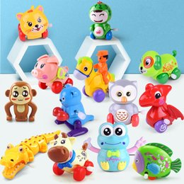 Wholesale 1 Piece Aircraft Clockwork Cute Cartoon Animals Wind Up Toys for Children Dog Shape Car Model Toy Baby Filed Gift for Kids