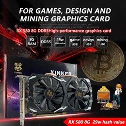 RX580 8G Graphics Card Platinum Interstellaire Mining Game Design Office DDR5 Grote geheugen Hoge nucleaire frequentie die kippenklasse van legendes HD-uitvoer eet