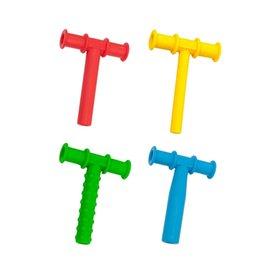 4 adet çiğneme tüp çiğneme diş kaşıyıcı bebek oral motor çiğnemek aletleri tuxtured otizm duyusal terapi oyuncaklar konuşma terapi aracı 1149 Y2
