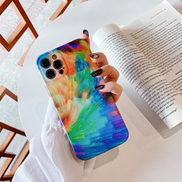 Wholesale customize ink resale online - Art ink color painting TPU phone cases for iPhone Pro X Xr Xs Max Mini Plus