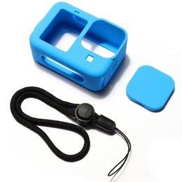 Опт С аксессуарным кремнием охватывающего чехол на ремень и объектив для объектива для GoPro Hero 9 Black 50 шт. / Лот