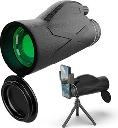 Other Sporting Goods Monocular Telescope for Adults Kids,12X42 High Power with Smartphone Holder and Tripod
