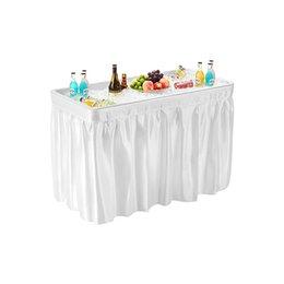 Опт Складная партия ледяной стол с скатертью, винные кулеры, кулеры фруктов